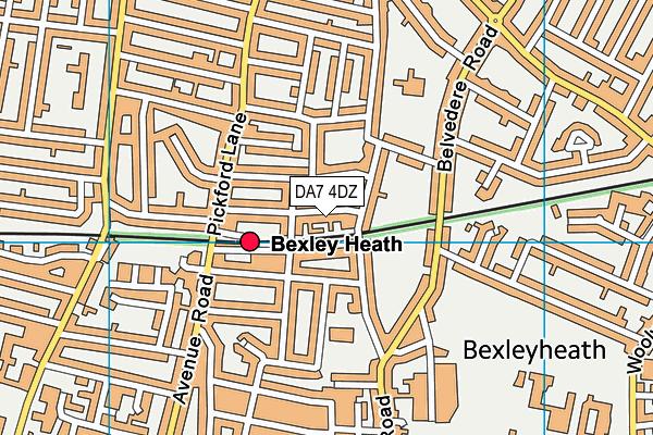 DA7 4DZ map - OS VectorMap District (Ordnance Survey)