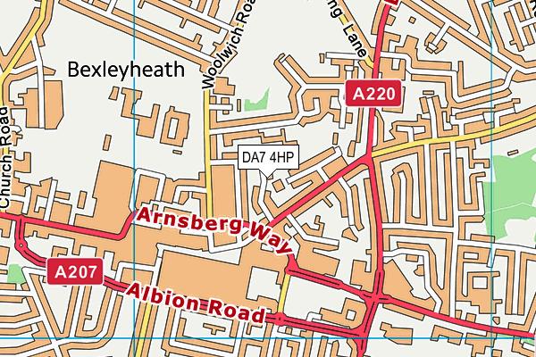 DA7 4HP map - OS VectorMap District (Ordnance Survey)