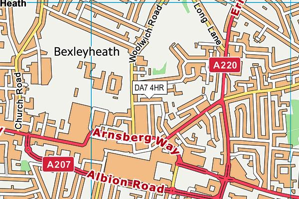DA7 4HR map - OS VectorMap District (Ordnance Survey)