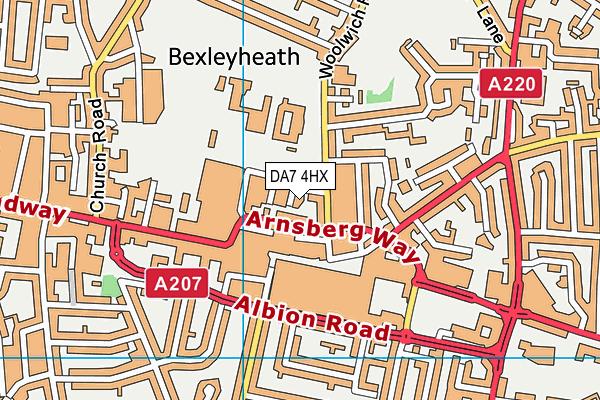 DA7 4HX map - OS VectorMap District (Ordnance Survey)