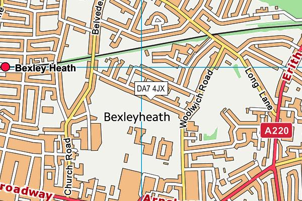 DA7 4JX map - OS VectorMap District (Ordnance Survey)