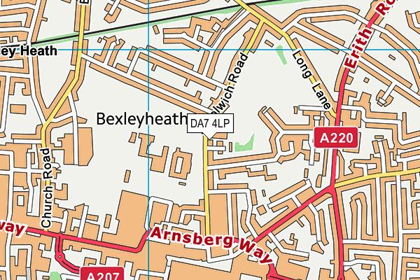 DA7 4LP map - OS VectorMap District (Ordnance Survey)