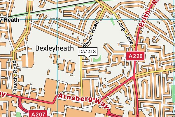 DA7 4LS map - OS VectorMap District (Ordnance Survey)