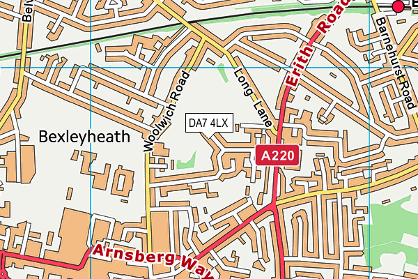 Russell Park map (DA7 4LX) - OS VectorMap District (Ordnance Survey)
