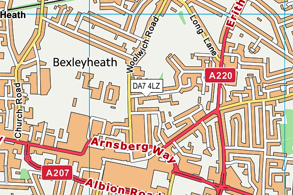 DA7 4LZ map - OS VectorMap District (Ordnance Survey)