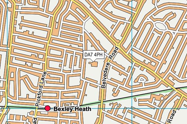 St Thomas Moore Catholic Primary School map (DA7 4PH) - OS VectorMap District (Ordnance Survey)