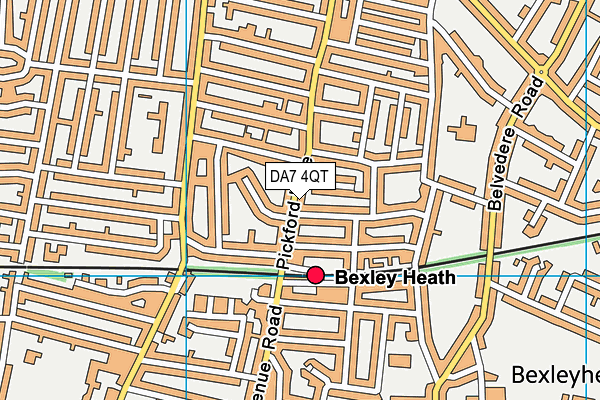 DA7 4QT map - OS VectorMap District (Ordnance Survey)