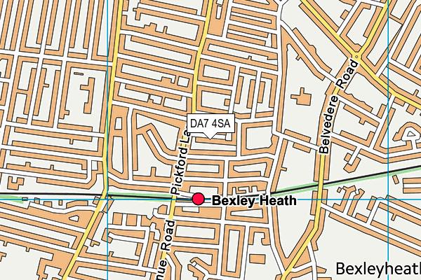 DA7 4SA map - OS VectorMap District (Ordnance Survey)