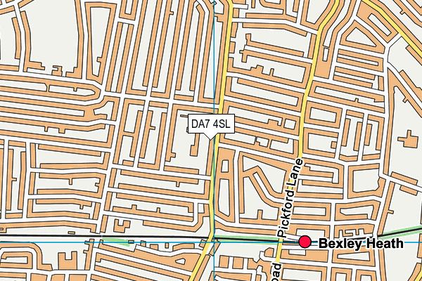 Brampton Primary Academy map (DA7 4SL) - OS VectorMap District (Ordnance Survey)