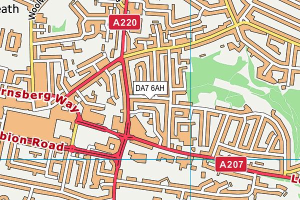 DA7 6AH map - OS VectorMap District (Ordnance Survey)