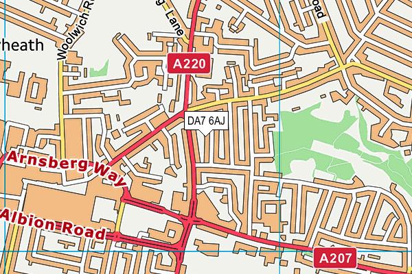 DA7 6AJ map - OS VectorMap District (Ordnance Survey)