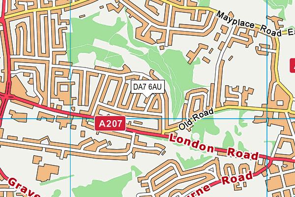 DA7 6AU map - OS VectorMap District (Ordnance Survey)
