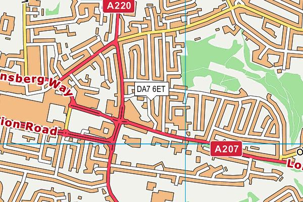 DA7 6ET map - OS VectorMap District (Ordnance Survey)