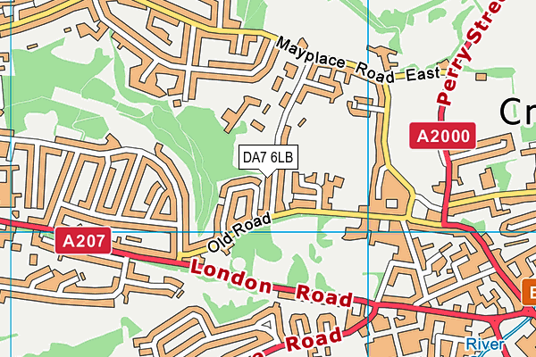 Endeavour Academy Bexley map (DA7 6LB) - OS VectorMap District (Ordnance Survey)