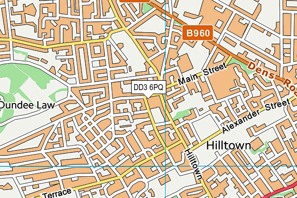 DD3 6PQ map - OS VectorMap District (Ordnance Survey)