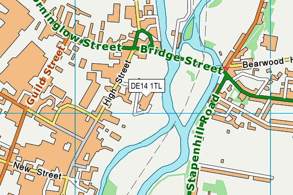Meadowside Leisure Centre map (DE14 1TL) - OS VectorMap District (Ordnance Survey)