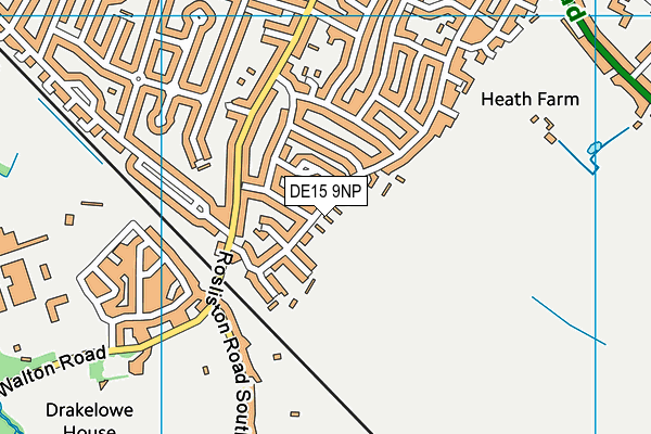 Edge Hill Community Park map (DE15 9NP) - OS VectorMap District (Ordnance Survey)