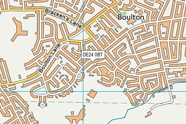 St Martins School map (DE24 0BT) - OS VectorMap District (Ordnance Survey)