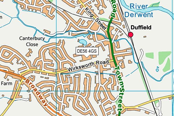 DE56 4GS map - OS VectorMap District (Ordnance Survey)