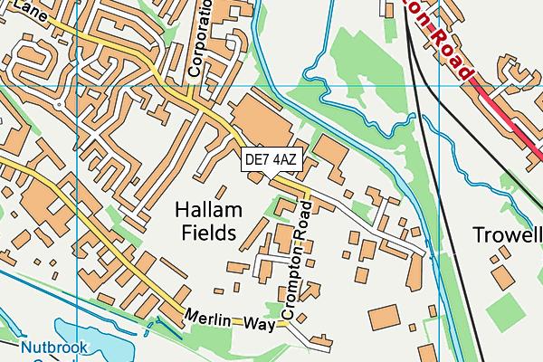 The Stute map (DE7 4AZ) - OS VectorMap District (Ordnance Survey)