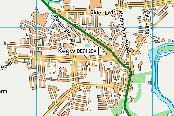 Kegworth Primary School map (DE74 2DA) - OS VectorMap District (Ordnance Survey)