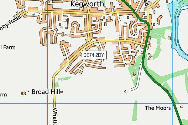 DE74 2DY map - OS VectorMap District (Ordnance Survey)