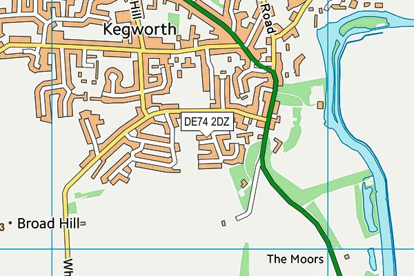 DE74 2DZ map - OS VectorMap District (Ordnance Survey)