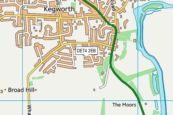DE74 2EB map - OS VectorMap District (Ordnance Survey)