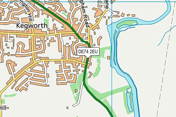 DE74 2EU map - OS VectorMap District (Ordnance Survey)