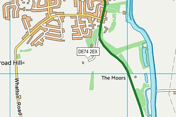 DE74 2EX map - OS VectorMap District (Ordnance Survey)