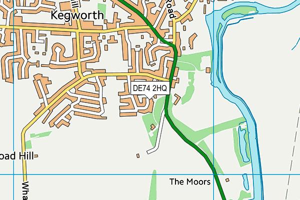 DE74 2HQ map - OS VectorMap District (Ordnance Survey)