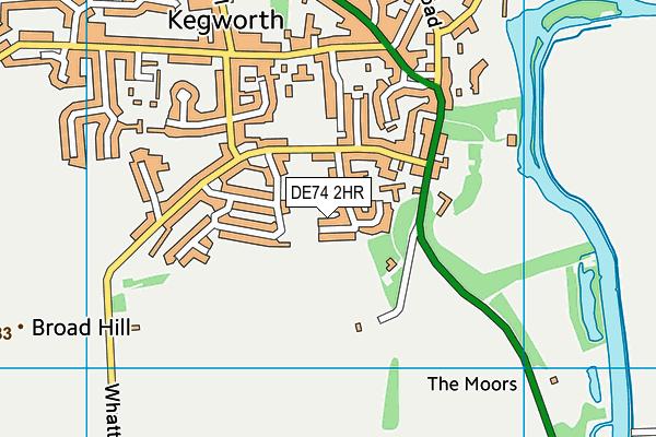 DE74 2HR map - OS VectorMap District (Ordnance Survey)