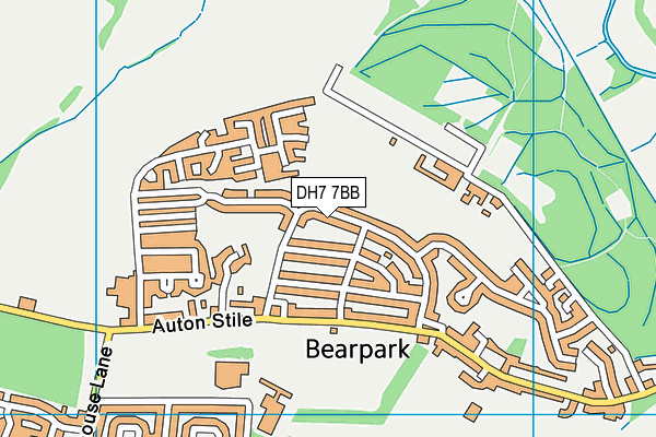 Map of C WOOLAMS DRIVEWAYS LTD at district scale