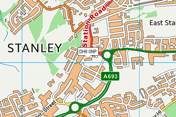 St Joseph's Roman Catholic Voluntary Aided Primary School, Stanley map (DH9 0NP) - OS VectorMap District (Ordnance Survey)