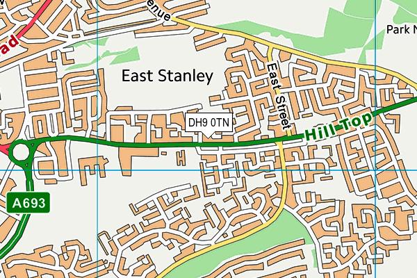 East Stanley School map (DH9 0TN) - OS VectorMap District (Ordnance Survey)
