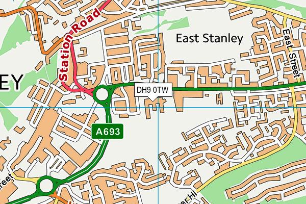 North Durham Academy map (DH9 0TW) - OS VectorMap District (Ordnance Survey)
