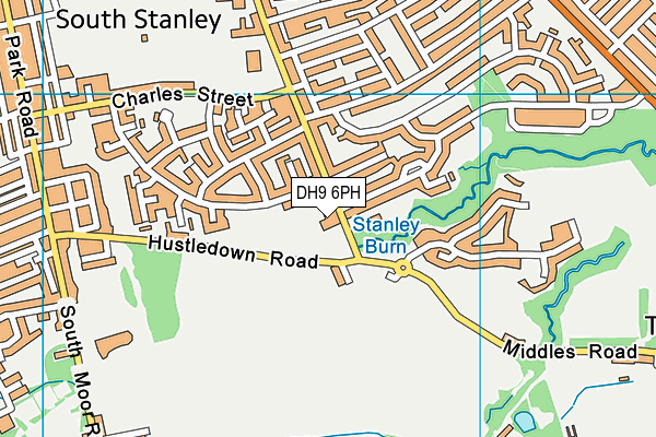 St Mary's Roman Catholic Voluntary Aided Primary School, South Moor map (DH9 6PH) - OS VectorMap District (Ordnance Survey)