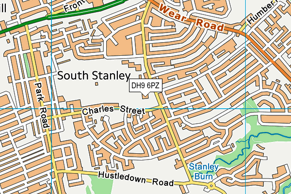South Stanley Junior School map (DH9 6PZ) - OS VectorMap District (Ordnance Survey)