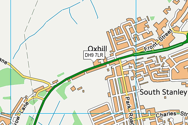 Oxhill Nursery School map (DH9 7LR) - OS VectorMap District (Ordnance Survey)