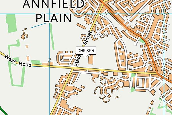 Croft Community School map (DH9 8PR) - OS VectorMap District (Ordnance Survey)