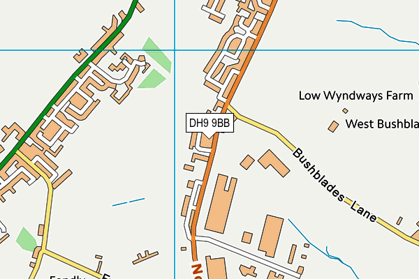 St Patrick's Roman Catholic Voluntary Aided Primary School, Dipton map (DH9 9BB) - OS VectorMap District (Ordnance Survey)