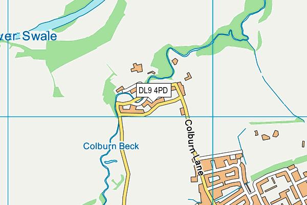 DL9 4PD map - OS VectorMap District (Ordnance Survey)