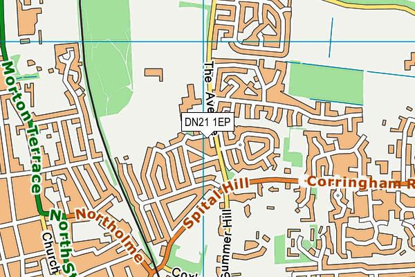 West Lindsey Leisure Centre map (DN21 1EP) - OS VectorMap District (Ordnance Survey)