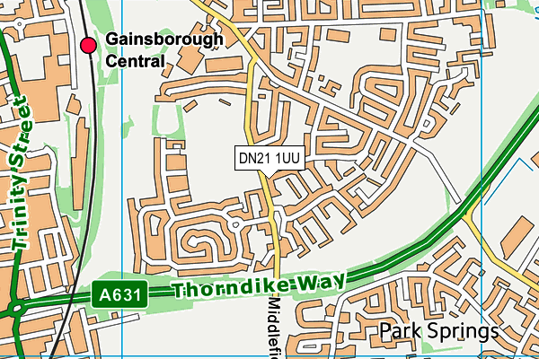 The Tone Zone (Closed) map (DN21 1UU) - OS VectorMap District (Ordnance Survey)