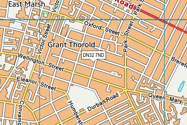 DN32 7ND map - OS VectorMap District (Ordnance Survey)