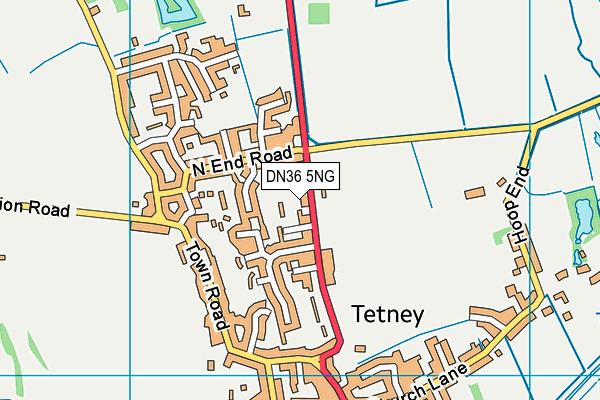 Tetney Primary School map (DN36 5NG) - OS VectorMap District (Ordnance Survey)