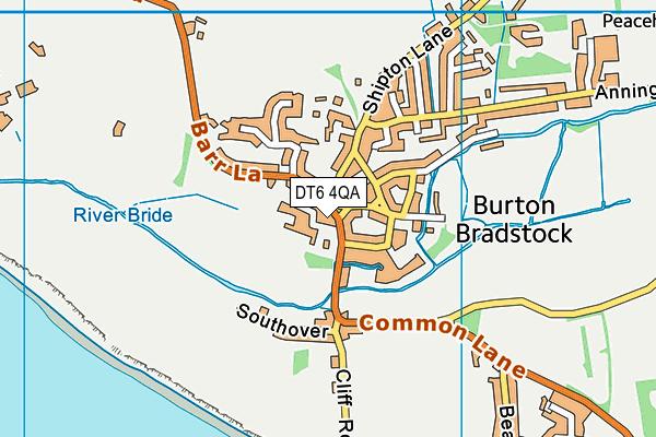 Burton Bradstock Playing Field map (DT6 4QA) - OS VectorMap District (Ordnance Survey)