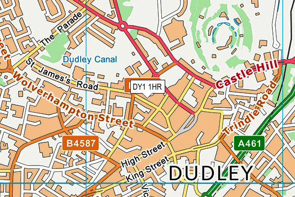 Dudley Library map (DY1 1HR) - OS VectorMap District (Ordnance Survey)