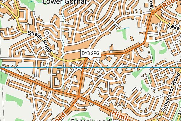 Gornal Library map (DY3 2PG) - OS VectorMap District (Ordnance Survey)