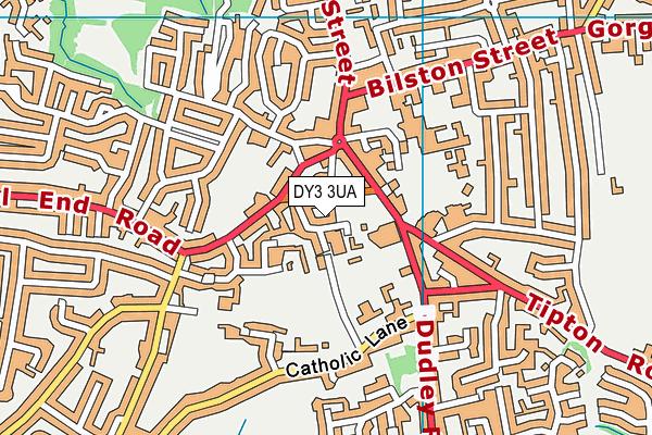 Sedgley Library map (DY3 3UA ) - OS VectorMap District (Ordnance Survey)